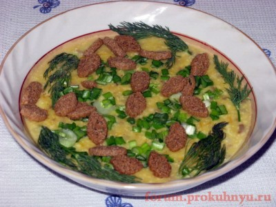 Фоторецепт: сырный суп-пюре с грибами - 17 Сырный суп-пюре с грибами.JPG