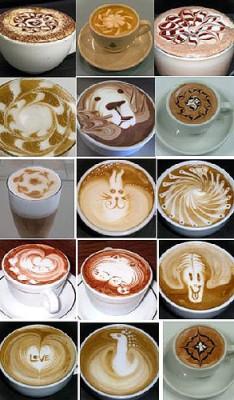 Готовим кофе: от турки до автоматической кофемашины - Кофе с рисунками.jpg
