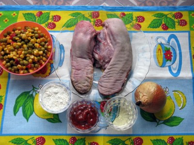 Свиной язык с овощами и рисом - Свиной язык с овощами и рисом 1.JPG