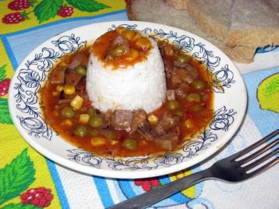 Свиной язык с овощами и рисом - Свиной язык с овощами и рисом 5.JPG