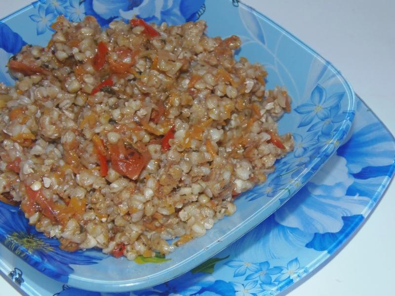 Похудел на гречке с овощами