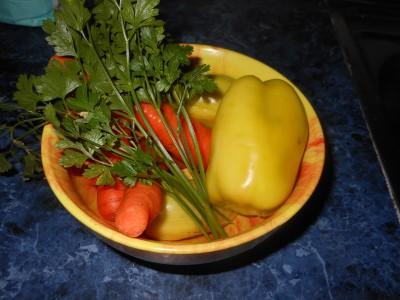 Пирожки и пицца на быстром дрожжевом тесте - перец морковка зелень.jpg