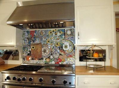 Фартук для кухни: из чего сделать? - mosaic-backsplash-03.jpg