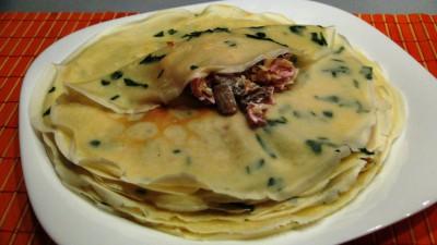 Интересные блины с петрушкой и вкусной начинкой из смеси сыр - DSC07158.JPG