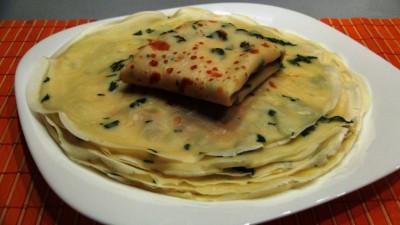 Интересные блины с петрушкой и вкусной начинкой из смеси сыр - DSC07160.JPG