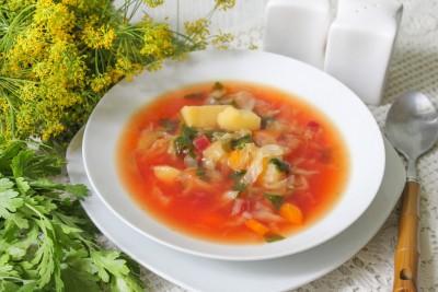 Борщ из молодых овощей с зажаркой - 14.jpg