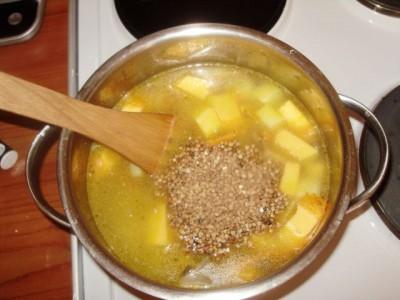 Фоторецепт: постный суп с вешенками и гречкой - P1140448.JPG