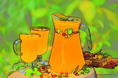 Освежающий напиток из облепихи и листьев мяты - 12 Напиток из облепихи и листьев мяты.jpg