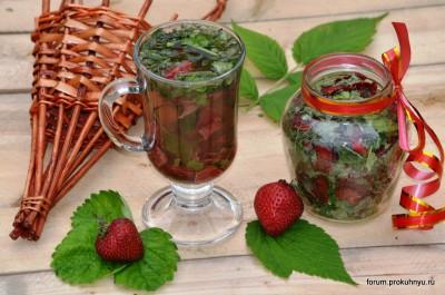 Чай из клубники, мелиссы и листьев смородины - 01 Чай из клубники, мелиссы и листьев смородины.jpg