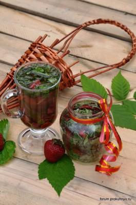 Чай из клубники, мелиссы и листьев смородины - 02 Чай из клубники, мелиссы и листьев смородины.jpg