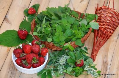 Чай из клубники, мелиссы и листьев смородины - 03 Чай из клубники, мелиссы и листьев смородины.jpg