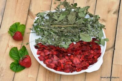 Чай из клубники, мелиссы и листьев смородины - 09 Чай из клубники, мелиссы и листьев смородины.jpg