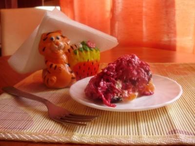 Фоторецепт: салат слоеный Роза со свеклой - P1140434.JPG