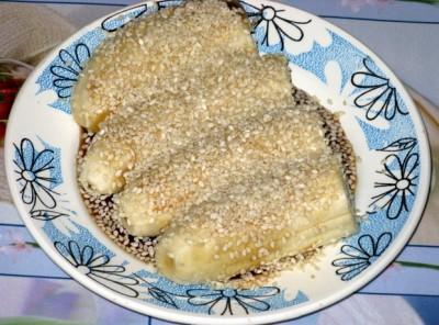 Фоторецепт: банановый десерт с кунжутом - Banan_s_kunzhutom.JPG