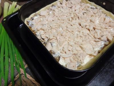Песочный пирог Закусочный с курицей и грибами - DSC02641.JPG