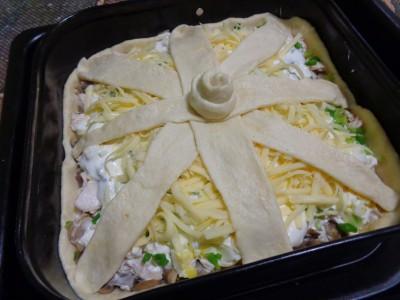 Песочный пирог Закусочный с курицей и грибами - DSC02646.JPG