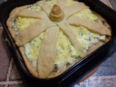 Песочный пирог Закусочный с курицей и грибами - DSC02647.JPG
