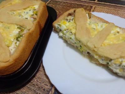 Песочный пирог Закусочный с курицей и грибами - DSC02650.JPG