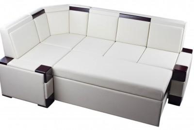 Каким должен быть кухонный диван? - Белый диван.jpg