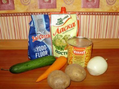 Кукурузный салат со свежим огурцом - P2160989.JPG