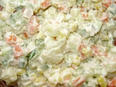 Кукурузный салат со свежим огурцом - P2161016.JPG