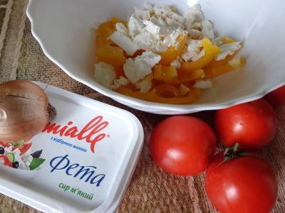 Салат с овощами и сыром Фета - DSC03482.JPG