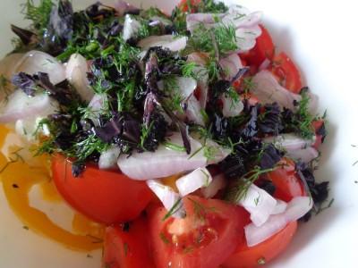 Салат с овощами и сыром Фета - DSC03491.JPG