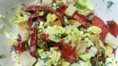 Салат с овощами и сыром Фета - GAmqqWimS2c.jpg