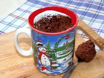 Шоколадные кексики в чашке в микроволновке - 2.JPG