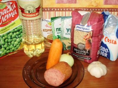 Рис с горошком и поджаренной колбасой - 01_ris_s_zharennoj_kolbasoj.jpg