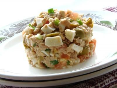 Салат с печенью трески - 1.JPG