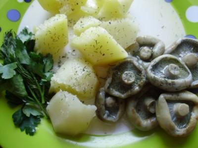 Картошечка с маслом, зеленью и солеными груздями - 02_gruzdi.jpg