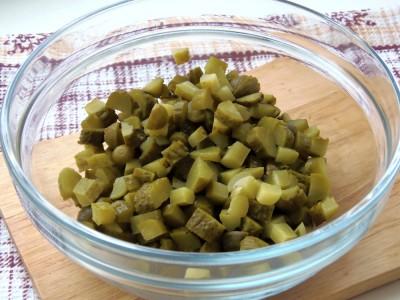 Салат с фасолью постный с майонезным постным соусом  - 4.JPG
