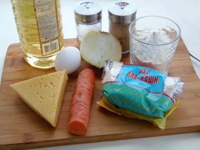 Котлетки рисовые с сыром и овощами - 1.JPG