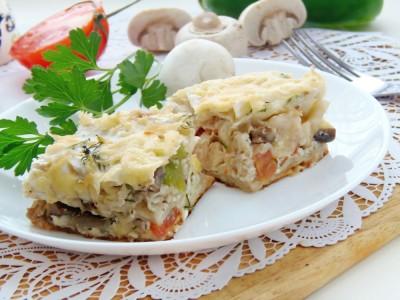 Лаваш запеченный с сырно-яичной начинкой - 12.JPG