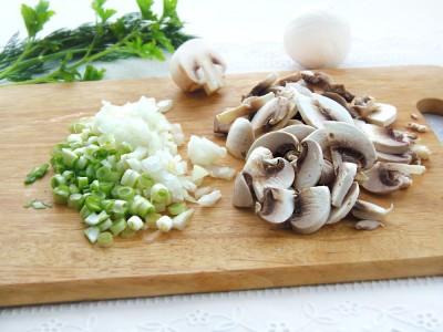 Стручковая фасоль с грибами и сыром - 2.JPG