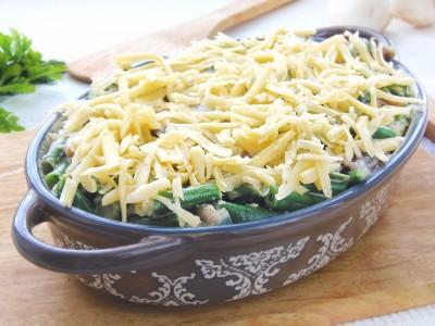 Стручковая фасоль с грибами и сыром - 7.JPG