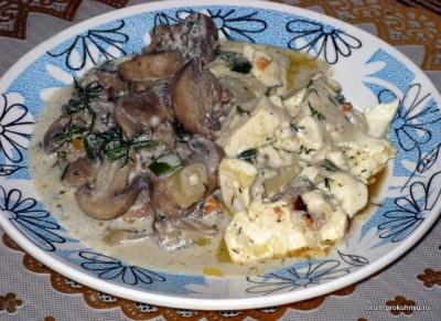 Шампиньоны с картофелем - Griby_s_tofu.JPG