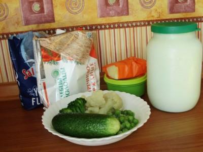 Раздельное питание: салат бутерброд - P6235186.JPG