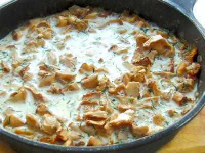 Открытый пирог с лисичками - 8.JPG