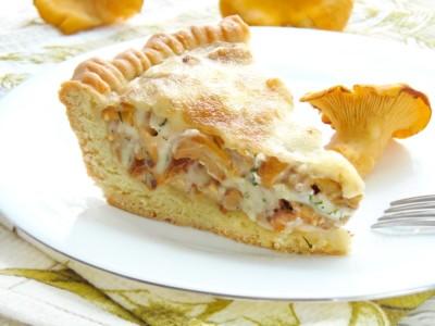 Открытый пирог с лисичками - 14.JPG