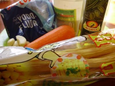 Соевая спаржа с кукурузой или фучжи - P7075789.JPG