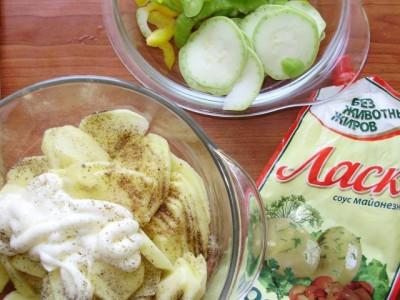 Овощная запеканка с картофелем и майонезом - P6195045.JPG