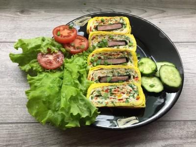 Закуска из яиц - яичный рулет с овощами - IMG_0007.JPG
