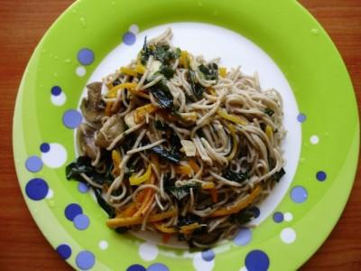Гречневая лапша с грибами и морской капустой - P1016364.JPG