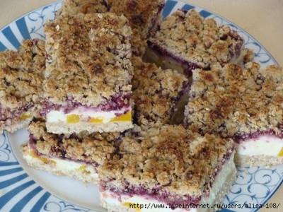 Пирог из овсянки со смородиновым вареньем - пирог2.JPG