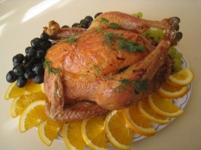 Фаршированная курица с виноградом и апельсинами - IMG_5185.JPG