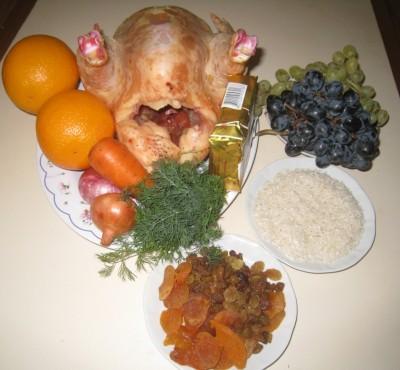 Фаршированная курица с виноградом и апельсинами - IMG_5167.JPG