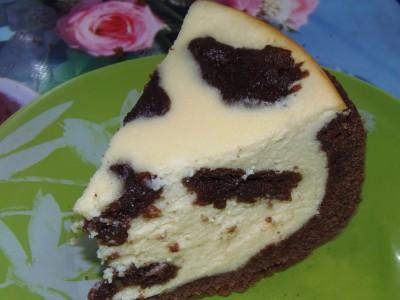 Пятнистый творожно-шоколадный пирог - пирог.JPG