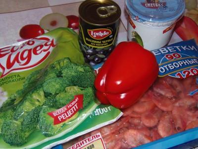 Легкий салатик с брокколи и креветками - ингредиенты.JPG